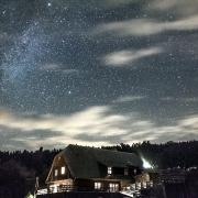 Gwieździste niebo nad Wataszką w ciepłą wrześniową noc